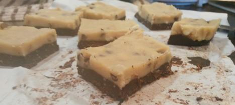 Vegan Cookie Dough Brownie