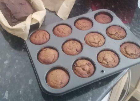 Vegan Banana Chocolate Muffin